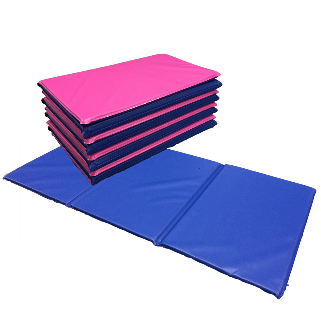 Pink/Blue Best Selling Triple Folding Sleep Mats – SleepMats