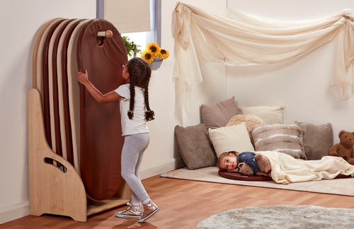 Freestanding Slumberstore - Brown/Cream
