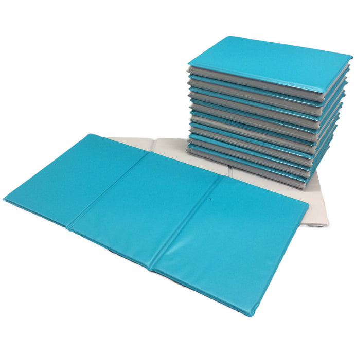 Aqua/Stone Best Selling Triple Folding Sleep Mats