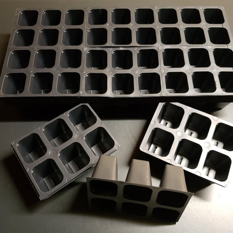 Seed Starting Insert Cells  (6 Cells Per Unit) - 5 Pack  5 Inserts / 12 Units (Larger & Deeper)