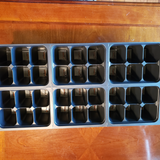 Mega Seed Cell and Flat  Package.  6 flats, 6 various seed cell inserts and 20 Transplant Pots with a 6 Pack of Seed Grab Bag Bonus