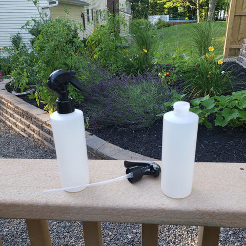 Container / Patio Nozzle and  Bottle Two Pack.  (2) Nozzles, (2) Dip Tubes, (2) Standard 8 oz. Bottles