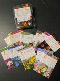 Bentley Flower Seed Mixed Annual and Perennial Seeds - 12 Individual Seed Packs, All Different!