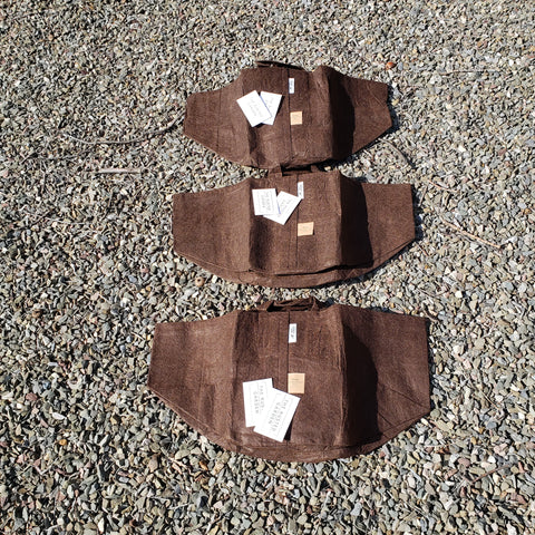 Root Pouch Recycled Fabric Containers -  Three #10 (10.44 G) Pouches - 6 Seed Packs