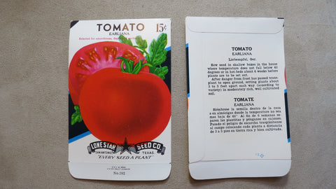 Garden Collectibles: Vintage Seed Package Tomato Earliana