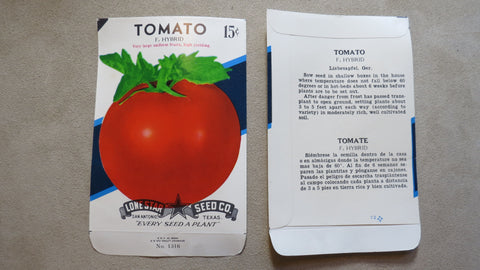 Garden Collectibles: Vintage Seed Package Tomato F2 Hybrid