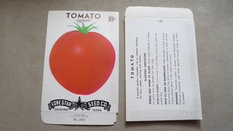 Garden Collectibles: Vintage Seed Package Tomato Oxheart