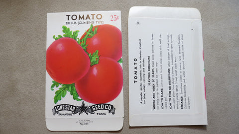 Garden Collectibles: Vintage Seed Package Tomato Trellis (Climbing  Type)