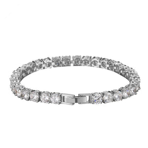 Iced Out 18K White Gold Plated Tennis Bracelet 7""