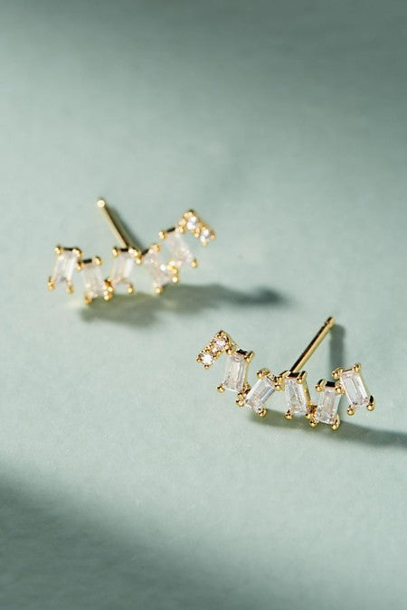 Abstract Crystal Stud Earrings - Golden NYC Jewelry www.goldennycjewelry.com fashion jewelry for women