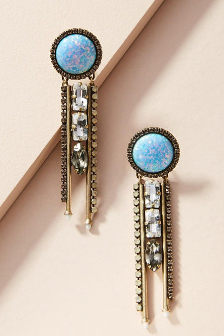 Turquoise Dream Catcher Drop Earrings - Golden NYC Jewelry www.goldennycjewelry.com fashion jewelry for women