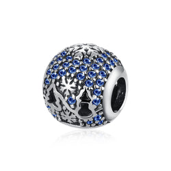 Sterling Silver CZ Sapphire Christmas Tree Charm - Golden NYC Jewelry Pandora Jewelry goldennycjewelry.com wholesale jewelry