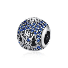 Sterling Silver Swarovski Elements Sapphire Christmas Tree Charm - Golden NYC Jewelry Pandora Jewelry goldennycjewelry.com wholesale jewelry