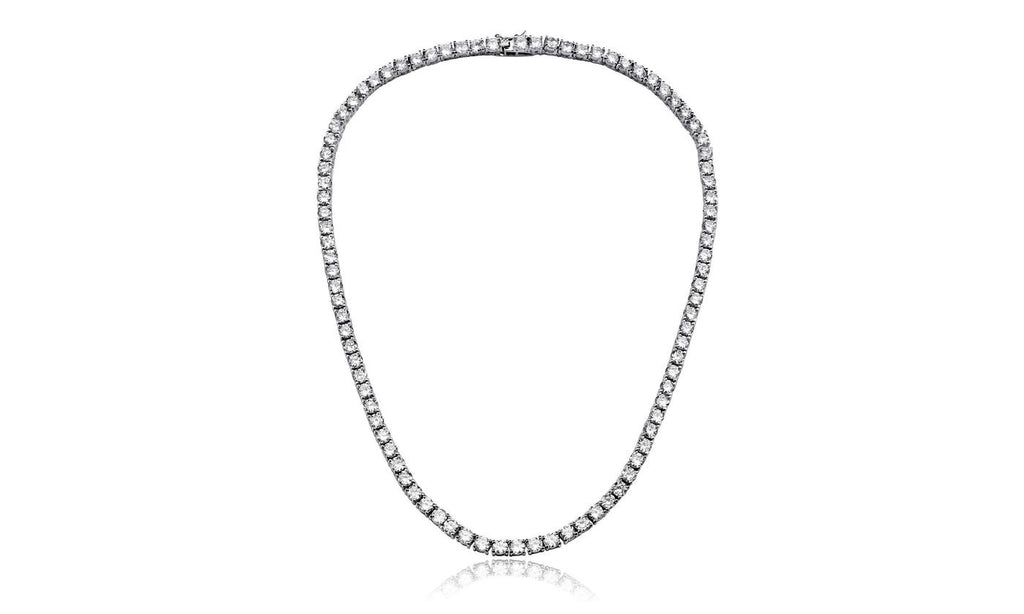 42.00 CTTW Cubic Zirconia Tennis Necklace, , Golden NYC Jewelry, Golden NYC Jewelry  jewelryjewelry deals, swarovski crystal jewelry, groupon jewelry,, jewelry for mom,