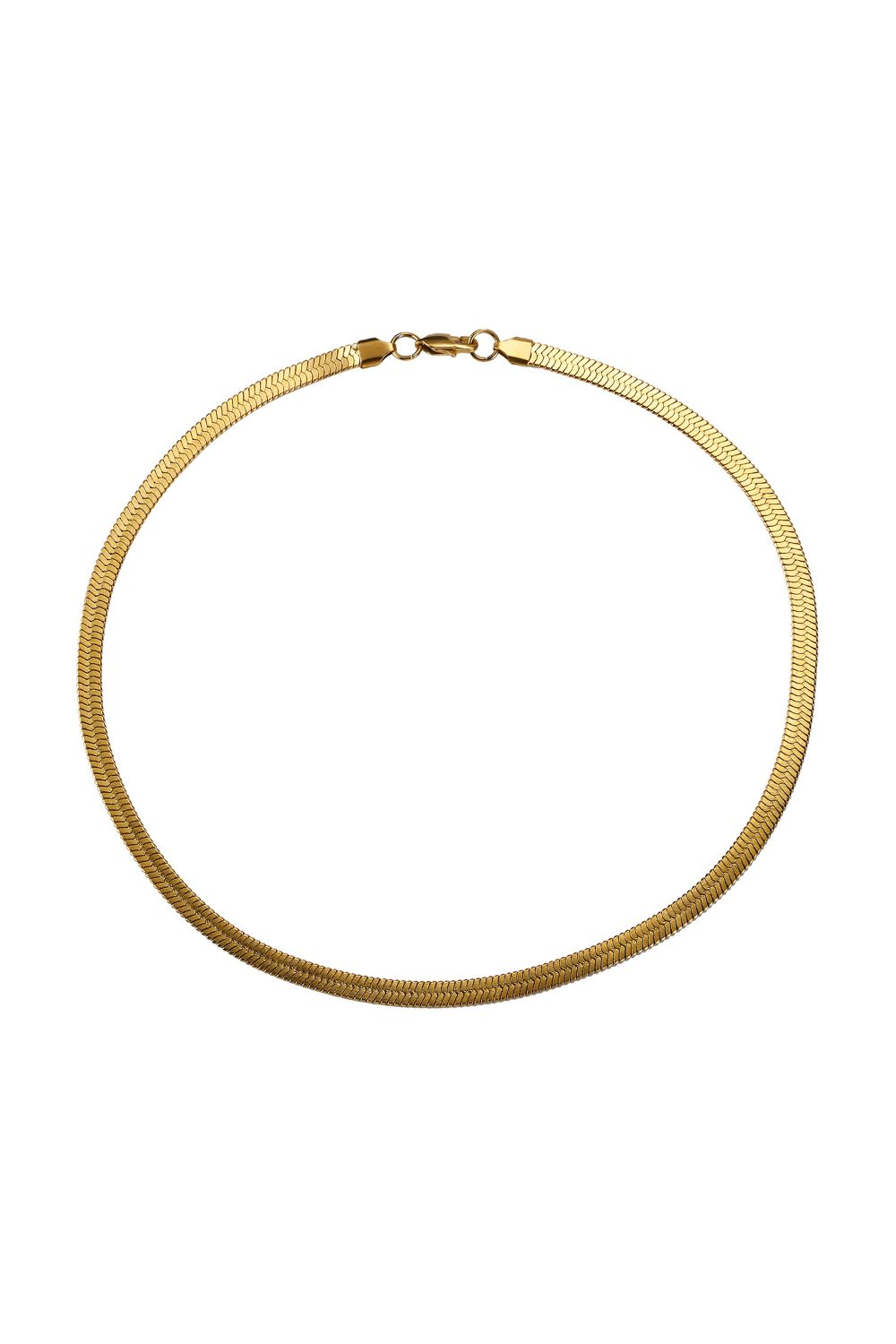 Flat Herringbone 1mm 18K Gold Filled Chain 30""