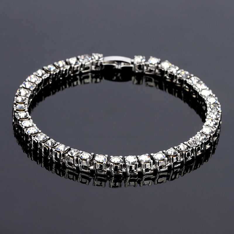 Iced Out 18K White Gold Plated Tennis Bracelet 7.8