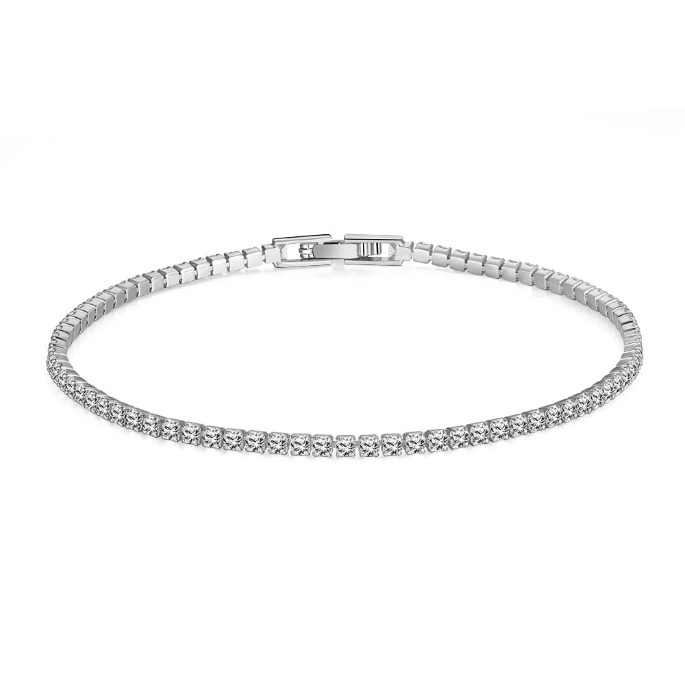 8.00 CTTW White Swarovski Elements Tennis Bracelet in 18K Gold Plating - 3 Options, Bracelet, Golden NYC Jewelry, Golden NYC Jewelry  jewelryjewelry deals, swarovski crystal jewelry, groupon jewelry,, jewelry for mom,