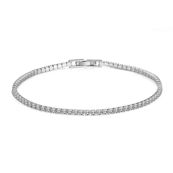 8.00 CTTW White Sapphire Tennis Bracelet - Golden NYC Jewelry www.goldennycjewelry.com fashion jewelry for women