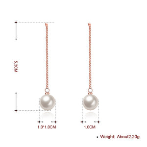 Freshwater Pearl Drop Earring in 18K Rose Gold Plated