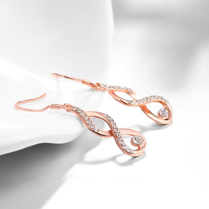 Dangling Infinity Earrings Made with Swarovski Elements, Earring, Golden NYC Jewelry, Golden NYC Jewelry  jewelryjewelry deals, swarovski crystal jewelry, groupon jewelry,, jewelry for mom,