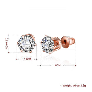 Swarovski Crystal Pave Stud Earring in 18K Rose Gold Plated