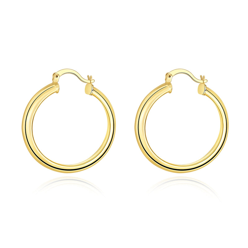34mm Hoop Earring in 18K Gold Plated, Earring, Golden NYC Jewelry, Golden NYC Jewelry  jewelryjewelry deals, swarovski crystal jewelry, groupon jewelry,, jewelry for mom,