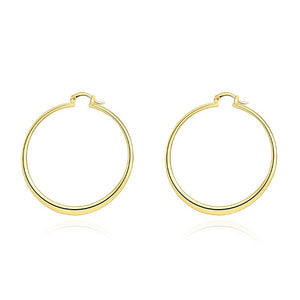 60mm 18K Gold Plated Hoop Earrings, Earring, Golden NYC Jewelry, Golden NYC Jewelry  jewelryjewelry deals, swarovski crystal jewelry, groupon jewelry,, jewelry for mom,
