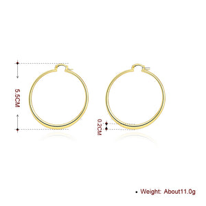 55mm Flat Hoop Earring in 18K Gold Plated, Earring, Golden NYC Jewelry, Golden NYC Jewelry  jewelryjewelry deals, swarovski crystal jewelry, groupon jewelry,, jewelry for mom,