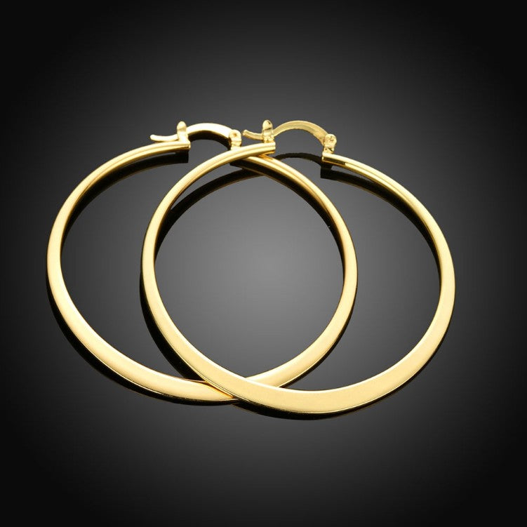 60mm 18K Gold Plated Hoop Earrings