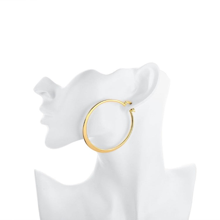 60mm 18K Gold Plated Hoop Earrings - Golden NYC Jewelry www.goldennycjewelry.com fashion jewelry for women