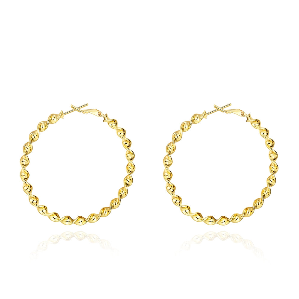 50mm Twist Hoop Earring in 18K Gold Plated, Earring, Golden NYC Jewelry, Golden NYC Jewelry  jewelryjewelry deals, swarovski crystal jewelry, groupon jewelry,, jewelry for mom,