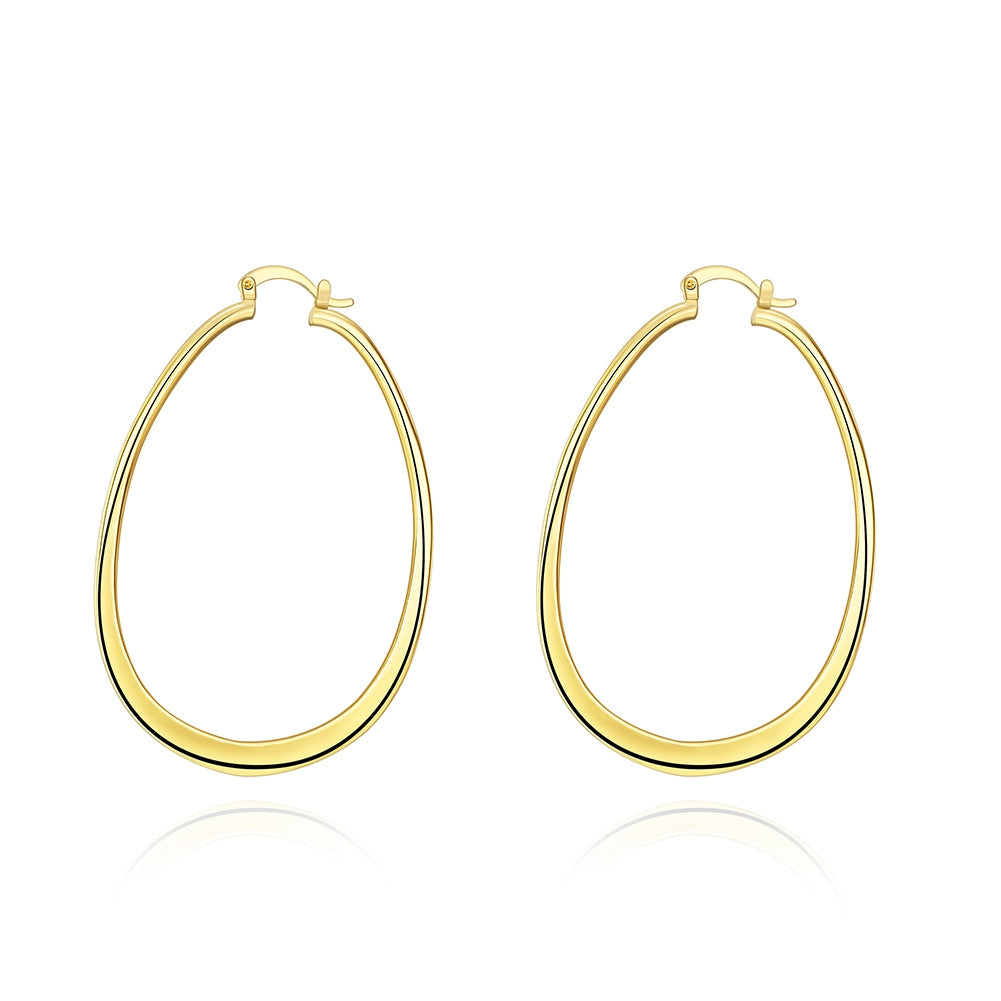 71mm Oval Hoop Earring in 18K Gold Plated, Earring, Golden NYC Jewelry, Golden NYC Jewelry  jewelryjewelry deals, swarovski crystal jewelry, groupon jewelry,, jewelry for mom,