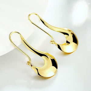 Moon French Lock Drop Earring in 18K Gold Plated