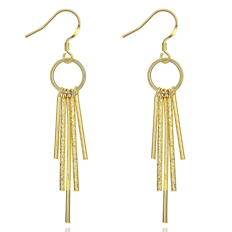 Golden NYC 18K Gold Plated Wind chimes Drop Earrings - Golden NYC Jewelry