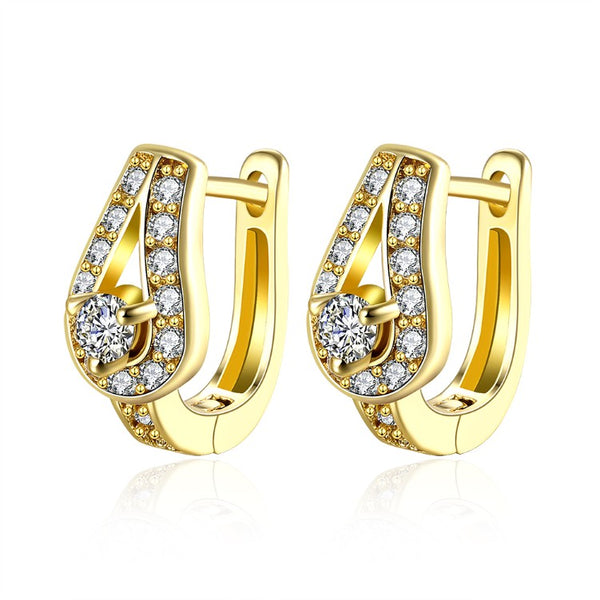 Golden NYC 18K Gold Plated Huggies Earring-Mini Pave Stones, Earring, Golden NYC Jewelry, Golden NYC Jewelry fashion jewelry, cheap jewelry, jewelry for mom,