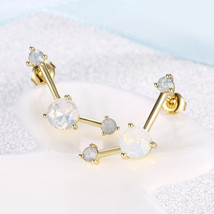 Stars Align Opal Stud Earring in 18K Gold Plated