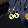 Letter K Drop Earring in 18K Gold Plated