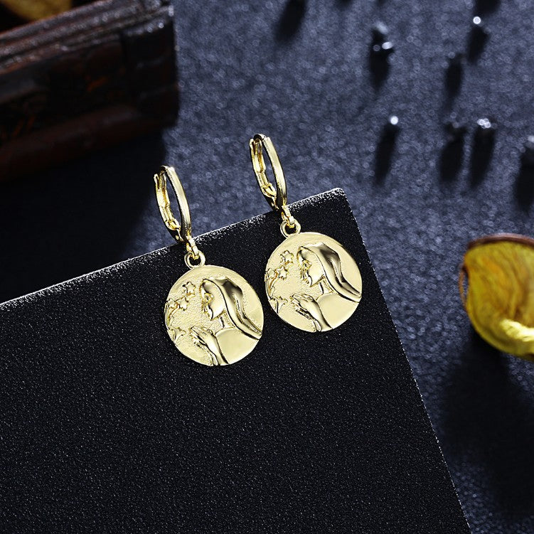 Prayer Drop Earrings, Gold Collection, Earring, Gold, Golden NYC Jewelry, Golden NYC Jewelry fashion jewelry, cheap jewelry, jewelry for mom,
