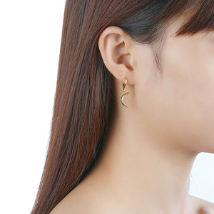 Moon Drop Earring in 18K Gold Plated