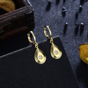 Swarovski Crystal Teardrop Drop Earrings - Golden NYC Jewelry www.goldennycjewelry.com fashion jewelry for women