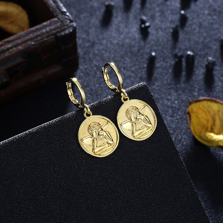Baby Angel Drop Earrings, Gold Collection, Earring, Gold, Golden NYC Jewelry, Golden NYC Jewelry  jewelryjewelry deals, swarovski crystal jewelry, groupon jewelry,, jewelry for mom,