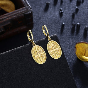 Cross Drop Earrings, Gold Collection, Earring, Gold, Golden NYC Jewelry, Golden NYC Jewelry  jewelryjewelry deals, swarovski crystal jewelry, groupon jewelry,, jewelry for mom,