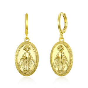 Gold Religious Drop Earrings, Gold Collection, Earring, Gold, Golden NYC Jewelry, Golden NYC Jewelry  jewelryjewelry deals, swarovski crystal jewelry, groupon jewelry,, jewelry for mom,