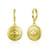 Evil Eye Protection Drop Earring in 18K Gold Plated