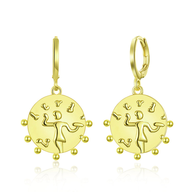 LOVE Dancing Drop Earring in 18K Gold Plated