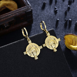 Athens Gold Drop Earrings, Gold Collection, Earring, Gold, Golden NYC Jewelry, Golden NYC Jewelry fashion jewelry, cheap jewelry, jewelry for mom,