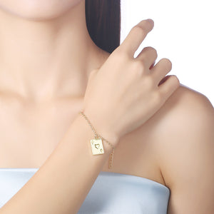 Ace of Hearts Bracelet in 18K Gold Plated, Gold Collection, Bracelet, Gold, Golden NYC Jewelry, Golden NYC Jewelry  jewelryjewelry deals, swarovski crystal jewelry, groupon jewelry,, jewelry for mom,