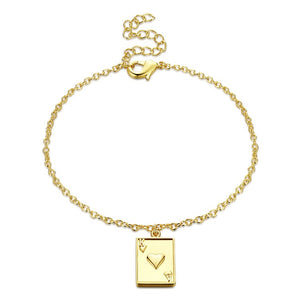 Jack of Hearts Bracelet in 18K Gold Plated, Gold Collection, Bracelet, Gold, Golden NYC Jewelry, Golden NYC Jewelry fashion jewelry, cheap jewelry, jewelry for mom,