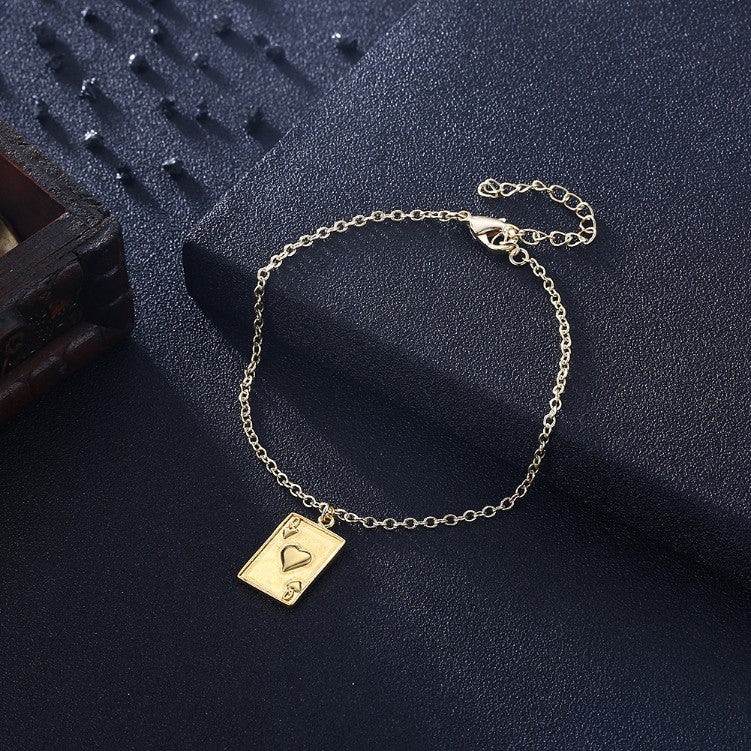 Queen of Hearts Bracelet in 18K Gold Plated, Gold Collection, Bracelet, Gold, Golden NYC Jewelry, Golden NYC Jewelry fashion jewelry, cheap jewelry, jewelry for mom,