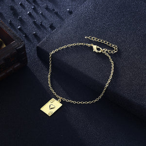 Ace of Hearts Bracelet in 18K Gold Plated, Gold Collection, Bracelet, Gold, Golden NYC Jewelry, Golden NYC Jewelry fashion jewelry, cheap jewelry, jewelry for mom,